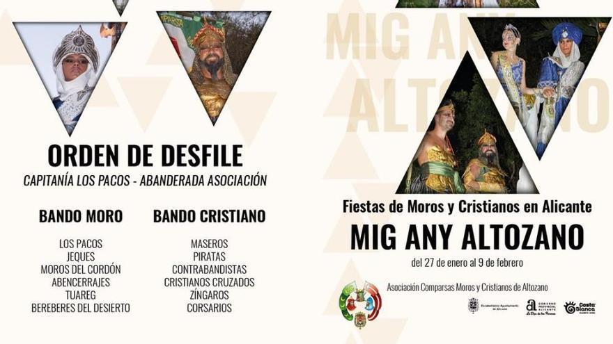 Los Moros y Cristianos de Altozano celebra su medio año festero este fin de semana