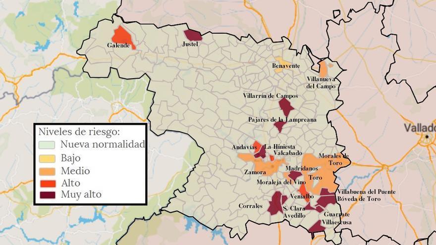 Mapa de coronavirus de Zamora, hoy, jueves | San Cristóbal de Entreviñas y Gema, libres de virus