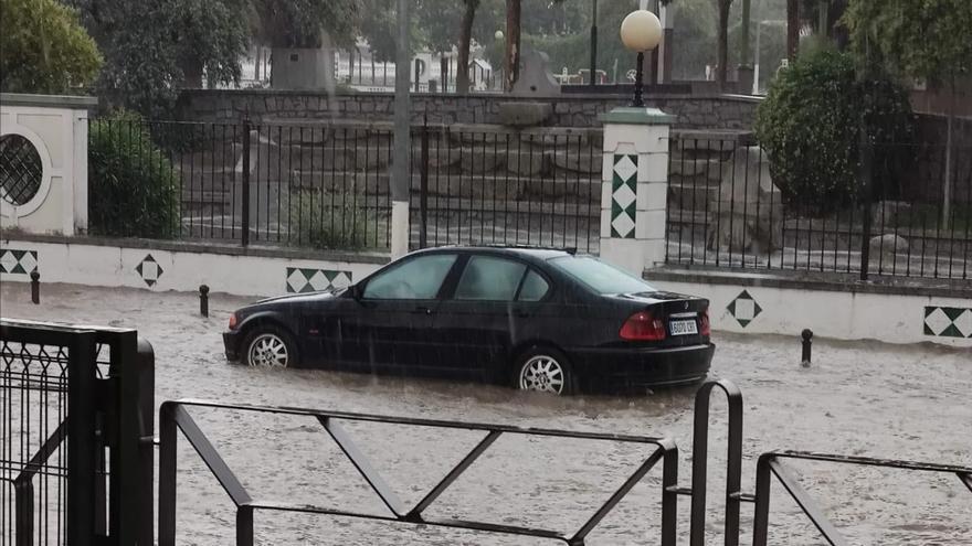 Calles de Pozoblanco tras la tormenta.
