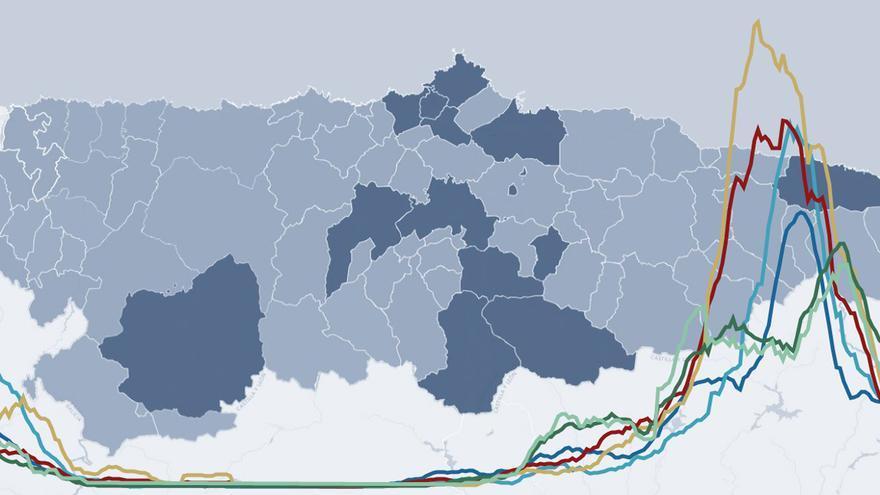 Cierres perimetrales en Asturias: las fechas clave para entender las restricciones en los concejos