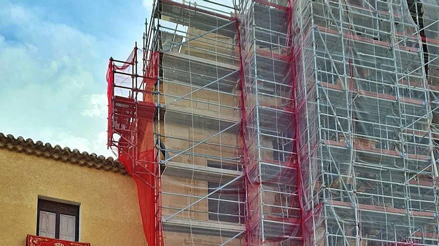Recta final para las obras de la fachada de la Basílica de Caravaca
