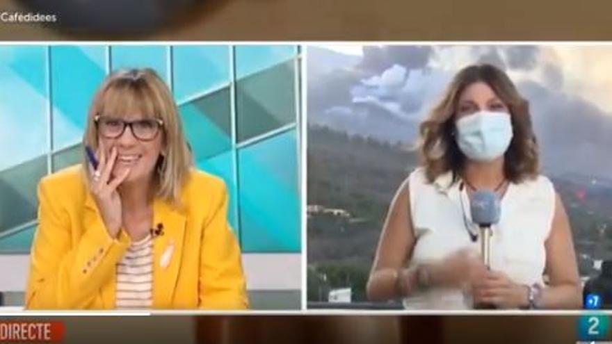 Una reportera canària presenta la crònica del volcà de La Palma en català i es fa viral