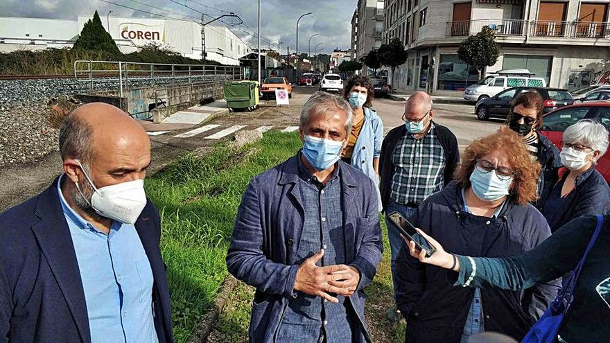 El BNG propone soterrar la vía del tren desde la estación hasta el Paseo do Louro