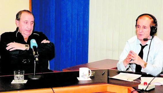 Jesús Gil, expresidente del Atlético de Madrid, y José María García.