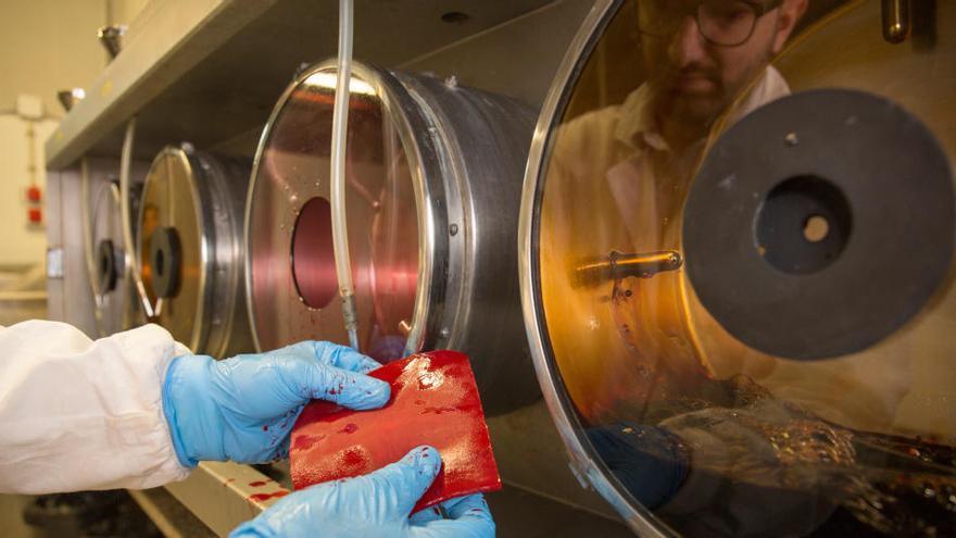 El Campus Igualada-UdL crea un sistema ecològic d'adob de pells amb un residu de les olives