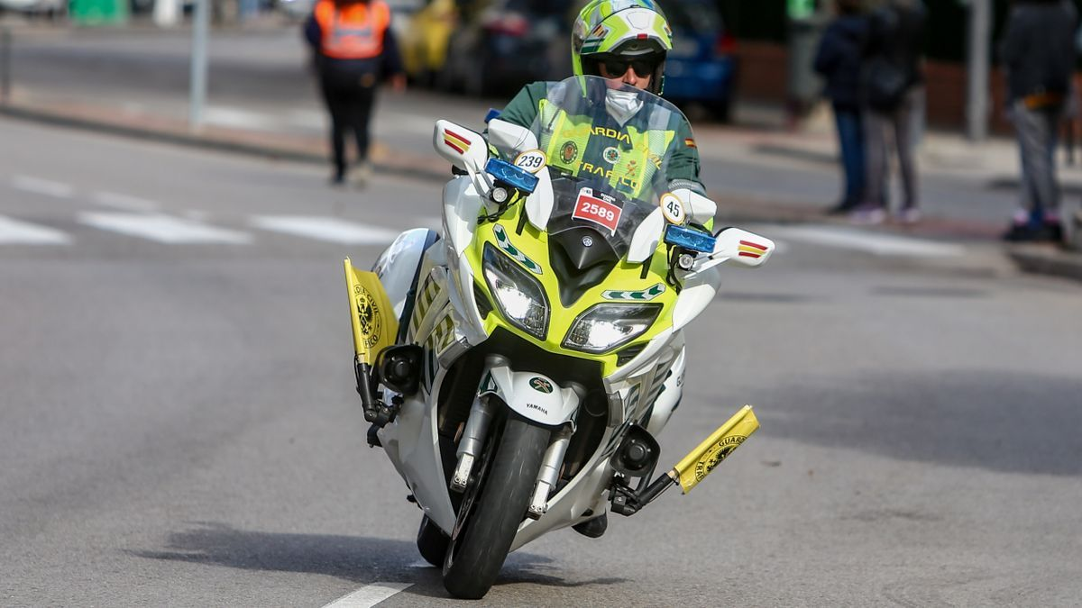 A Civil Traffic Guard at a stage of the Vuelta.
