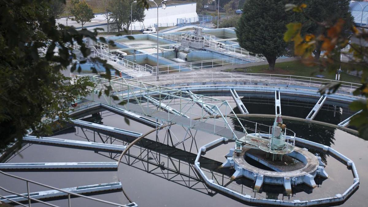 Vista de la planta de Aqualia en Vigo. // J. Lores