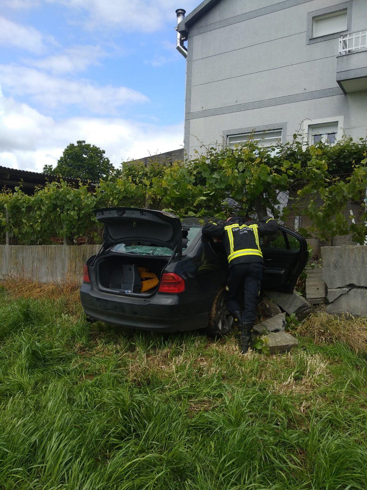 Aparatoso accidente en Lalín