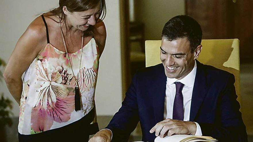 Armengol cobra 15.000 euros menos que Sánchez y 80.000 menos que Torra