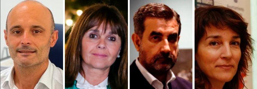 Pedro Cañadas, Rosario Gutiérrez, José María Luna y María del Pilar Moreno