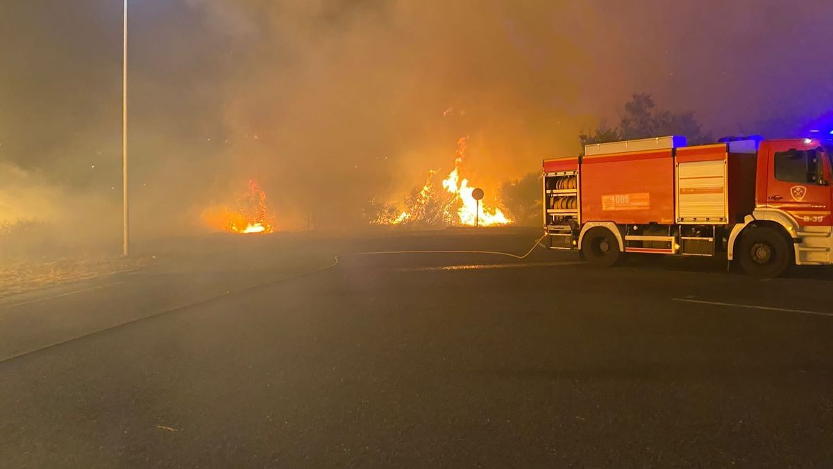 Incendio en las proximidades de Genalguacil.