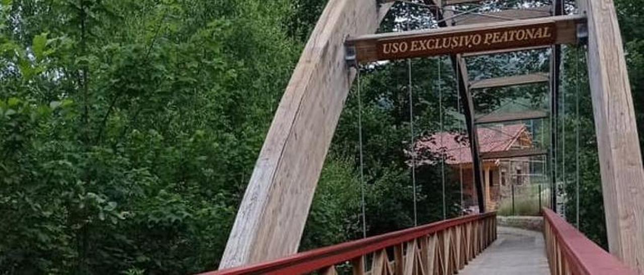 La pasarela de Celoriu (Cangas de Onís).