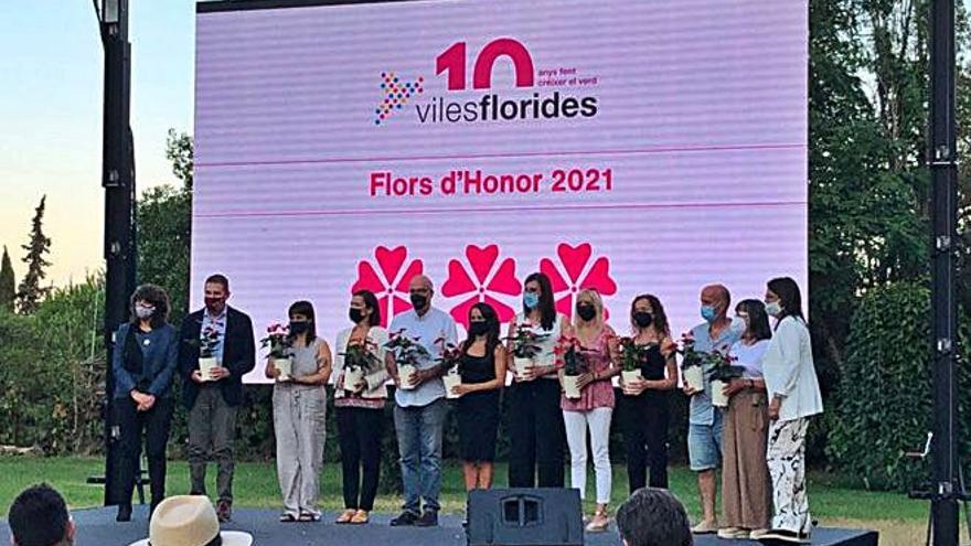 Abrera, distingida un any més amb tres Flors d'Honor pel projecte Viles Florides