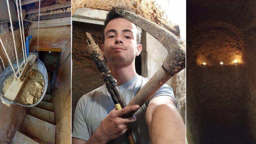 """Un joven de Alicante cava un hoyo por una """"pataleta"""" y termina construyendo una casa-cueva equipada hasta con wifi"""