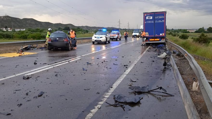 La Guardia Civil imputa dos homicidios por imprudencia a un conductor por el accidente con dos muertos en El Burgo de Ebro