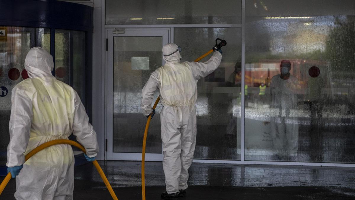 Desinfección de centros sanitarios en Zamora.