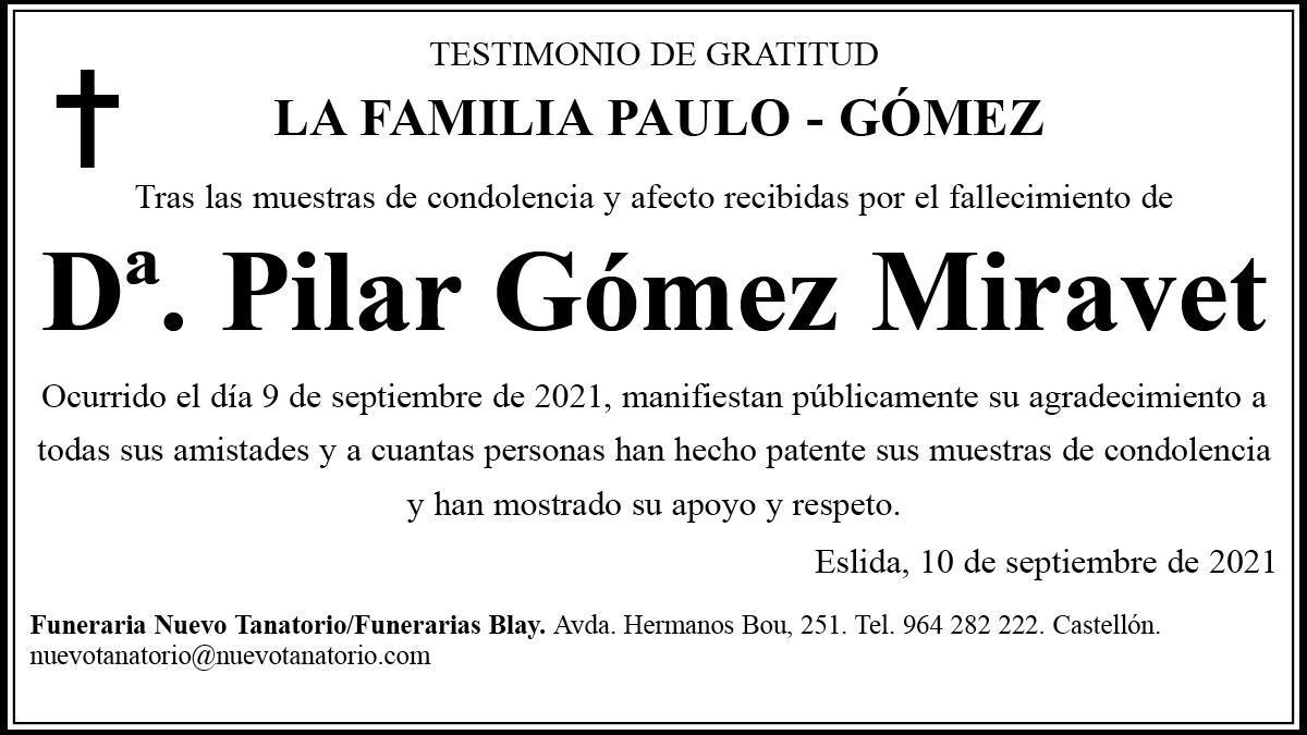 Dª Pilar Gómez Miravet
