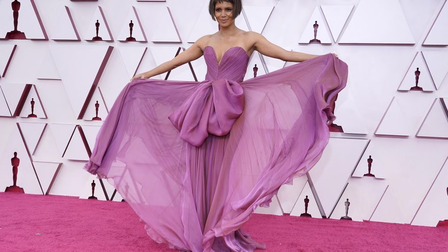 The red carpet of the Oscars 2021