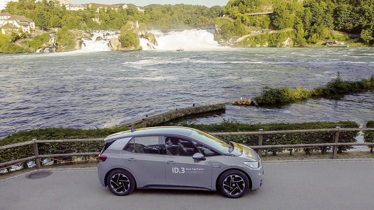 Un Volkswagen ID. 3 Pro Performance va de Alemania a Suiza con una sola carga