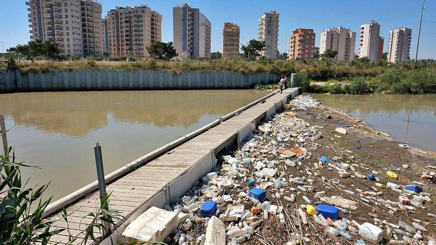 La CHS urge una solución tras retirar 56 toneladas de basura de la desembocadura del Segura