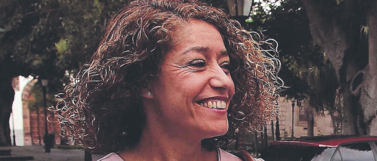 Sandra Rodríguez, en una de sus comparecencias en los juzgados de La Laguna.
