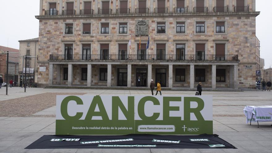 La Asociación contra el Cáncer de Zamora vende pañoletas para colocar en los balcones