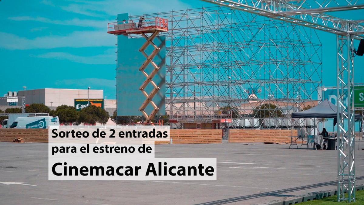 Consigue entradas gratis para el nuevo Cinemacar Alicante