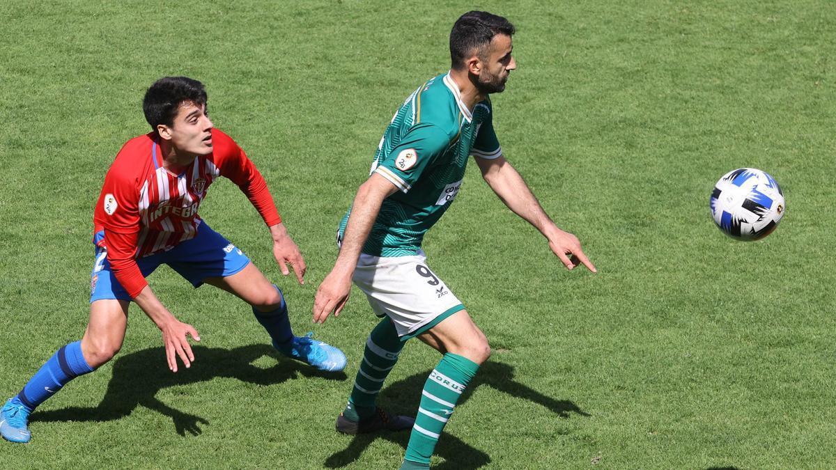 Silva, durante el partido ante el Sporting B.