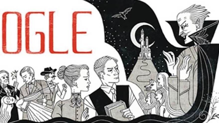 Google homenajea a Bram Stoker con un nuevo 'doodle'