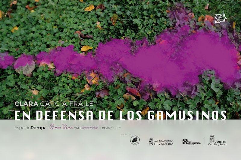 Cartel exposición - En defensa de los Gamusinos de Clara García