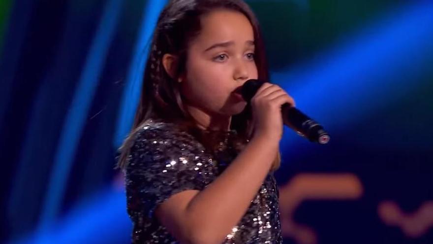 La pequeña grancanaria Saira deslumbra en 'La Voz Kids'