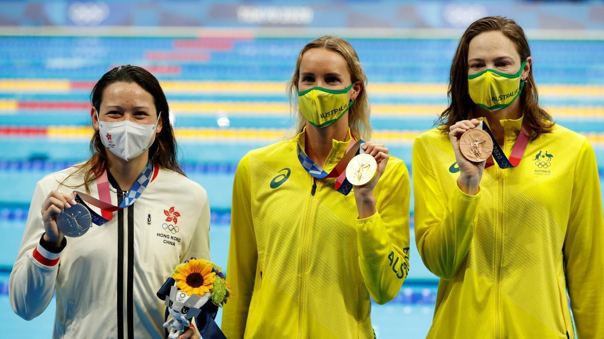 La australiana Emma McKeon campeona olímpica de los 100 libres.