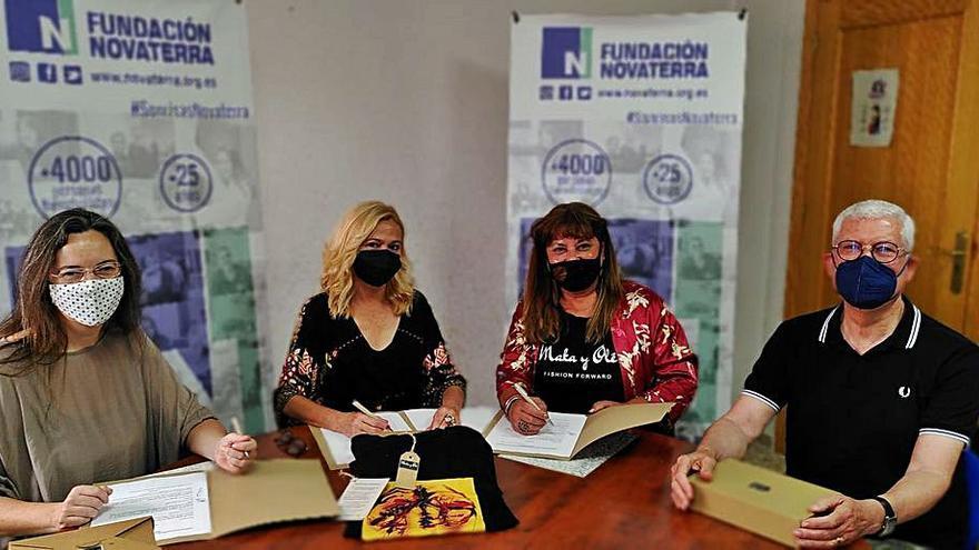 Maka i Olé dóna part dels beneficis  d'una camiseta solidària a Novaterra