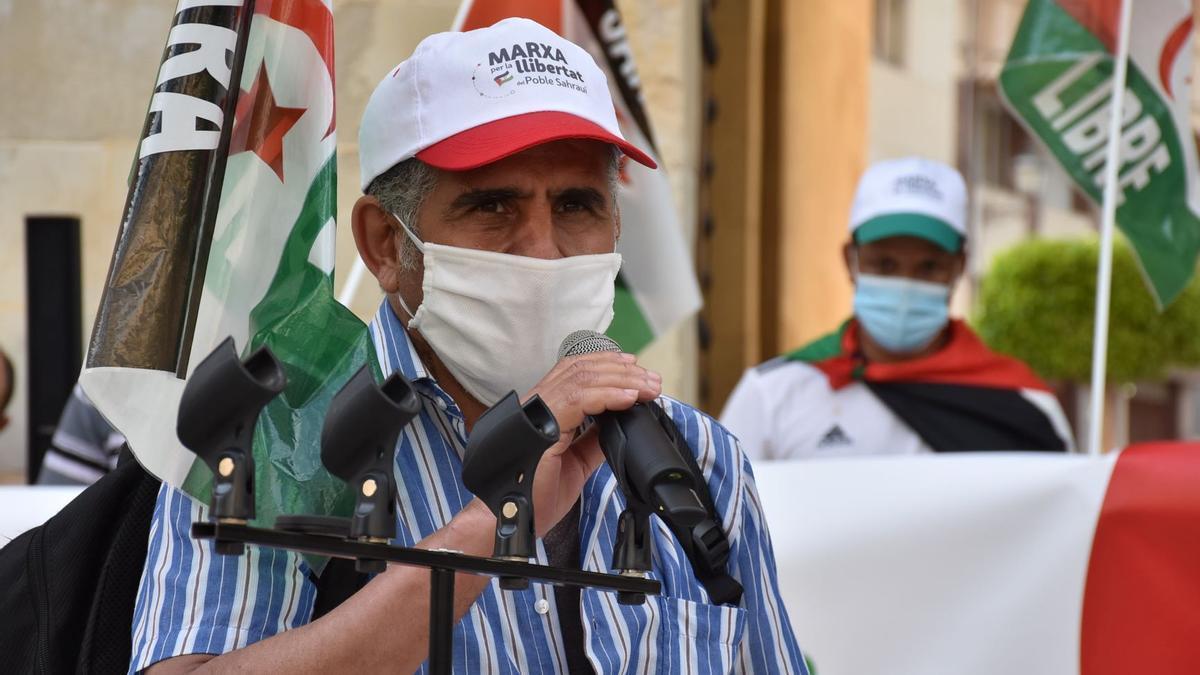 Lehbib Alsalem, delegado del Sáhara en Alicante intervino en la lectura del manifiesto