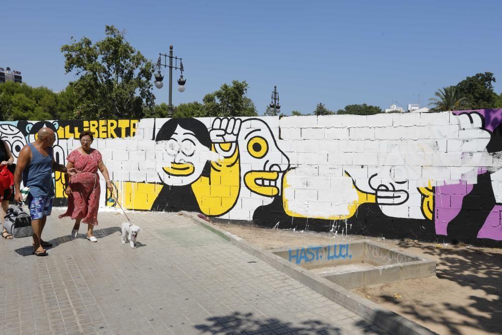 Borran el mural en favor de los condenados por Alsasua