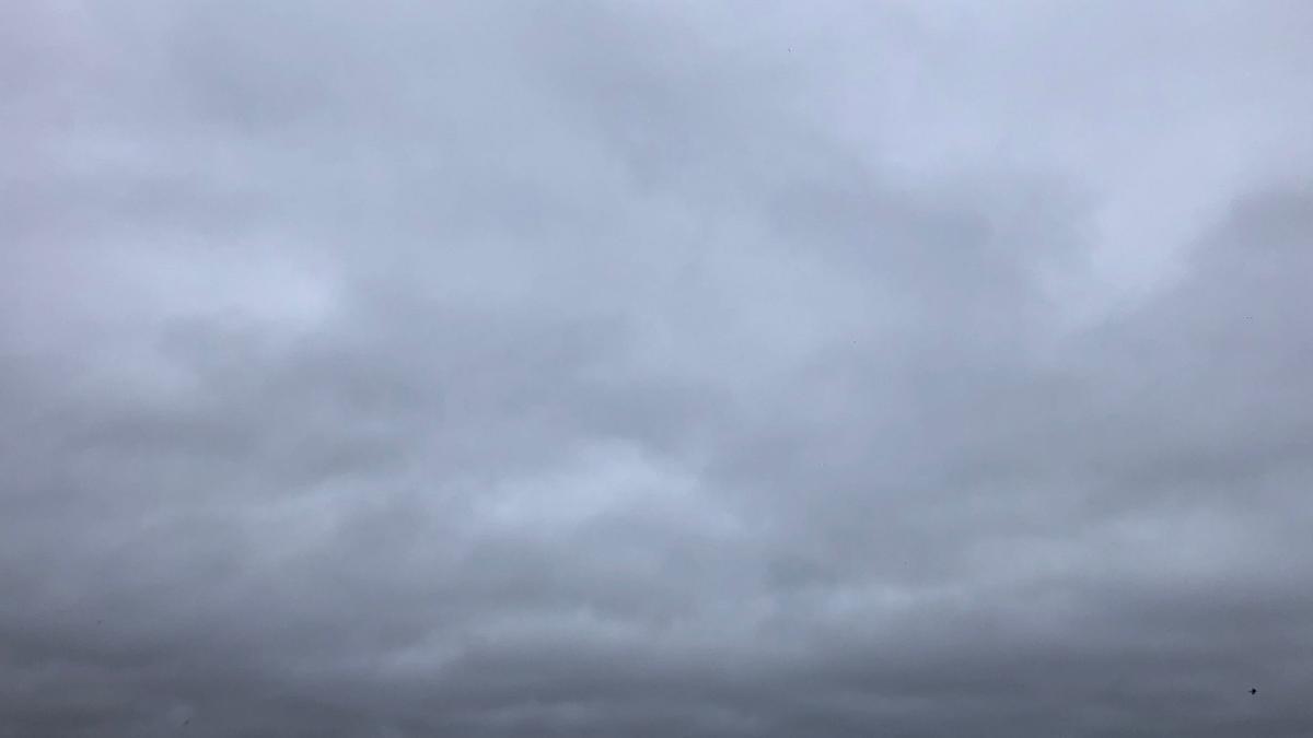 Nubes a primera hora de este domingo en Zamora.