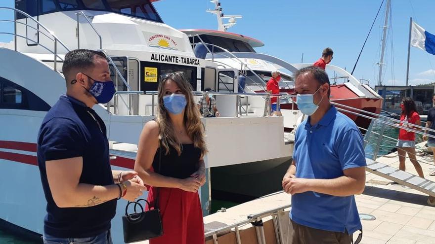 Piden un transporte público todo el año entre la isla de Tabarca y Alicante y Santa Pola