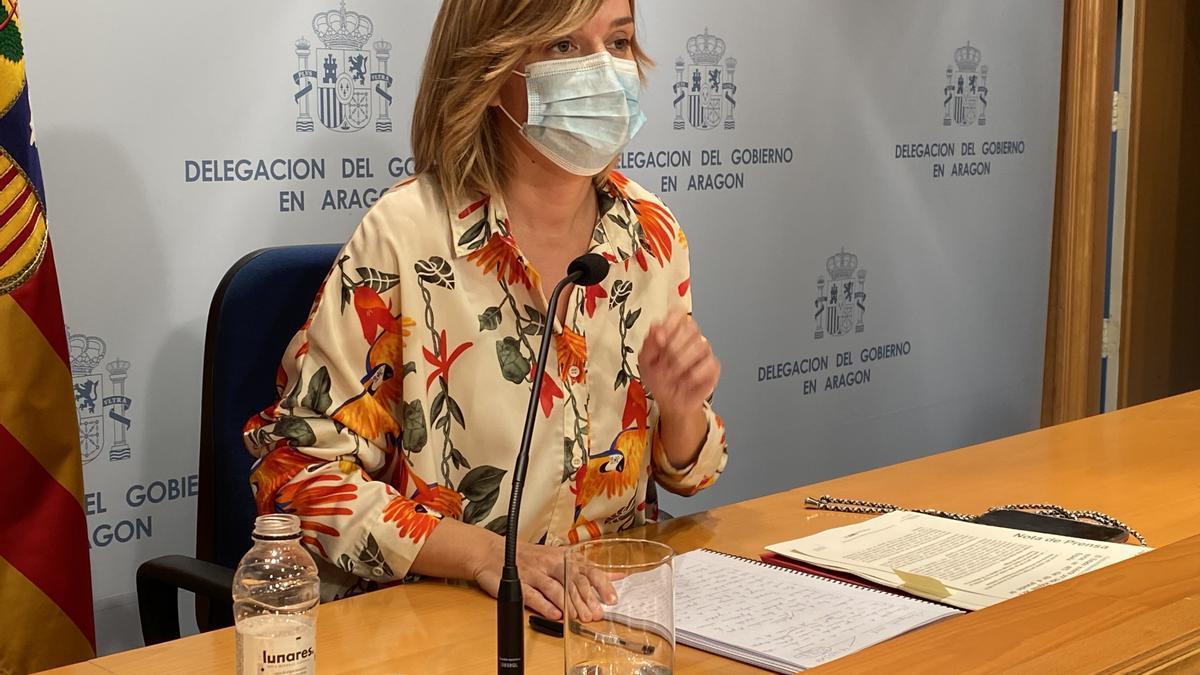 La delegada del Gobierno de España en Aragón, Pilar Alegría.