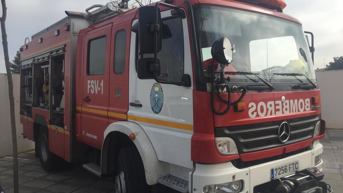 Una imagen de archivo de un camión de bomberos.