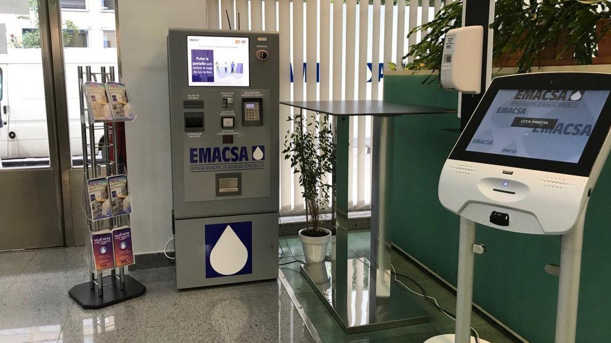 Cajero de Emacsa para pagar la factura del agua.