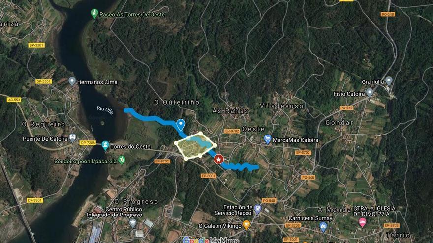 La Xunta destina 300.0000 euros a Catoira para evitar inundaciones