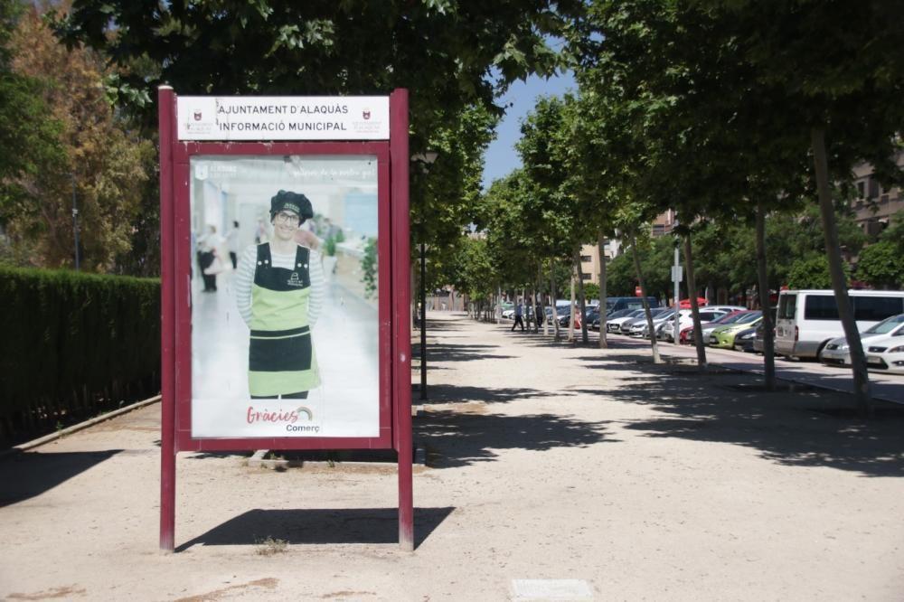 Carteles e imágenes de la campaña.