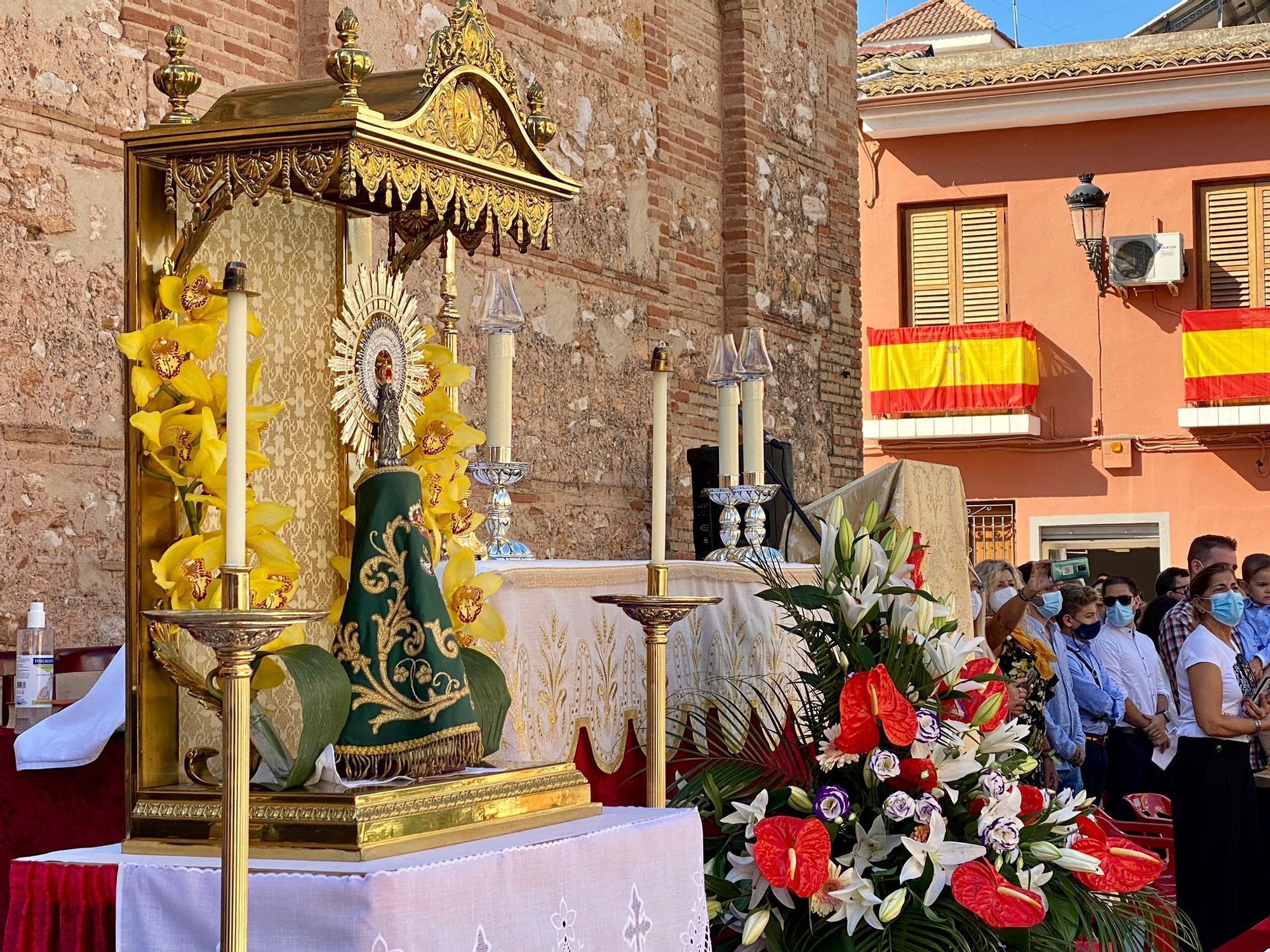 Altar de la misa de campaña.