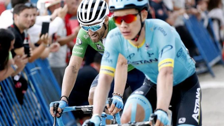 Sean Yates evita el tercer triunfo  de Valverde en un final explosivo