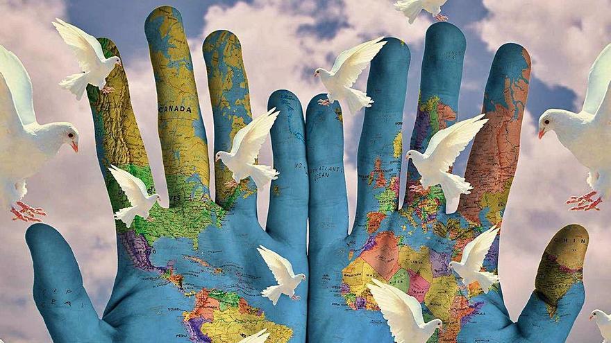 Animales hechos de papel y paz