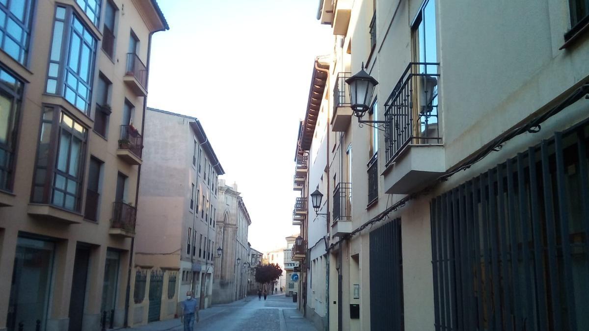 La Rúa de los Francos, esta mañana de miércoles