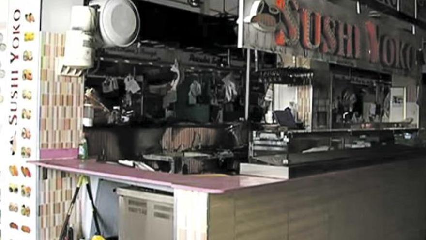Feuer in Palmas Markthalle de l'Olivar zerstört Sushi-Stand