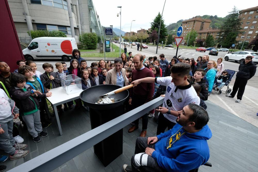 La antorcha olímpica llega a Mieres