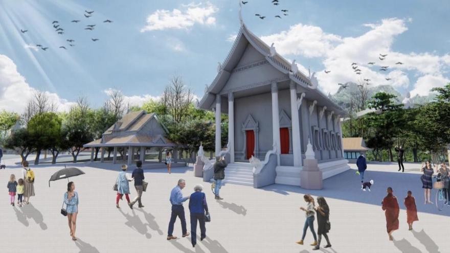 Bangkok canalizará la inversión para tres templos en los jardines del centro budista