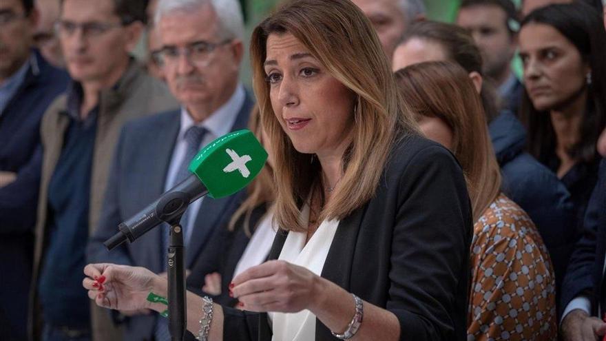 """Susana Díaz afirma que solo se presentará a la investidura si cuenta con los """"apoyos suficientes"""""""